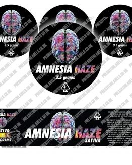 Amnesia Haze Jar Labels