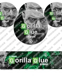 Gorilla Glue Jar Labels BB