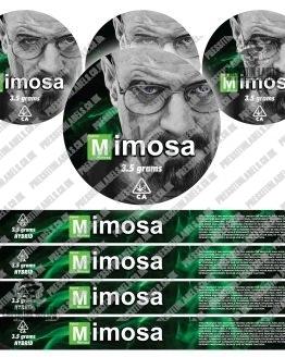 Mimosa Pressitin Labels BB Style