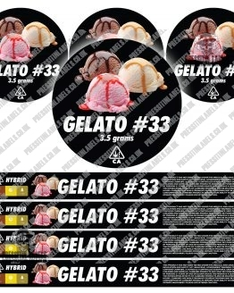 Gelato 33 Pressitin Labels