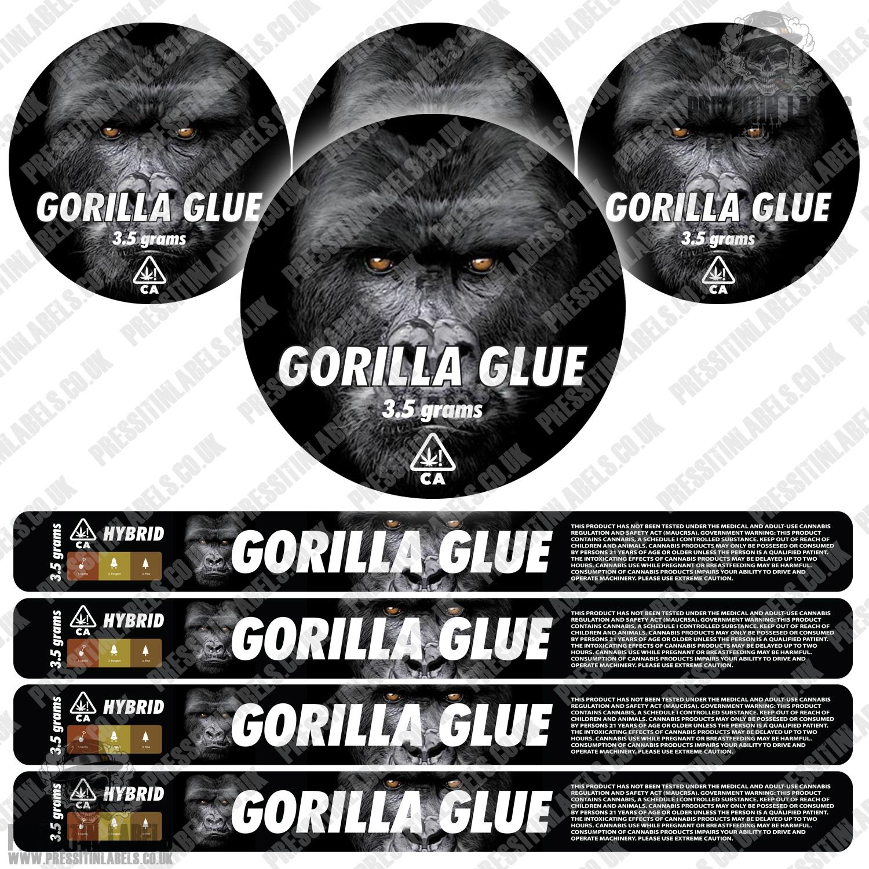 Gorilla Glue pressitin labels