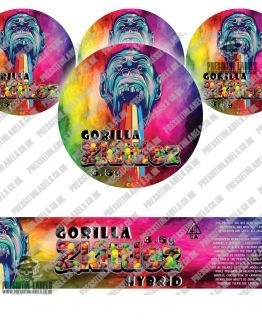 Gorilla Zkittlez Jar Labels Type 2