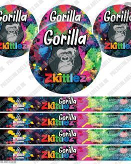 Gorilla Zkittlez Pressitin Labels