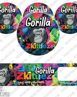 Gorilla Zkittles Jar Labels