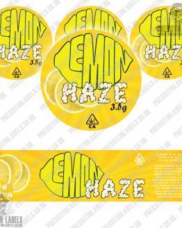 Lemon Haze Jar Labels 2