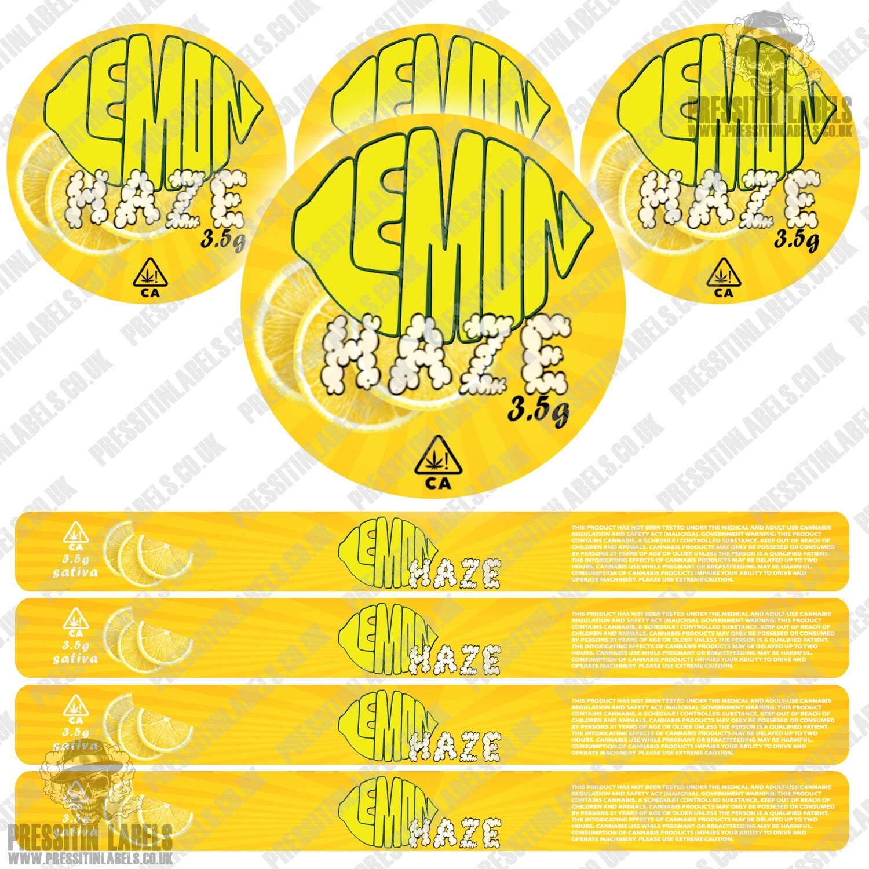 Lemon haze pressitin labels type 2