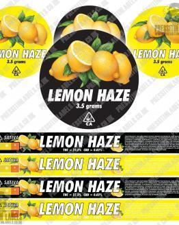 Lemon Haze Pressitin labels black