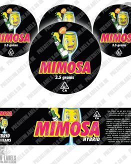 Mimosa Jar Labels
