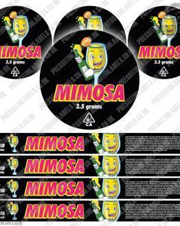 Mimosa Pressitin Labels