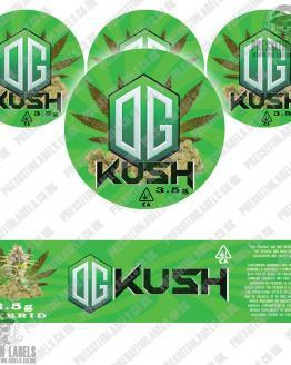 OG Kush Jar Labels