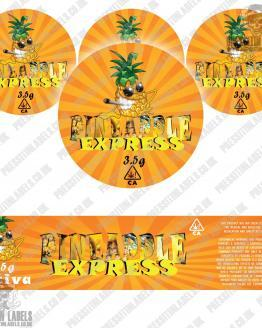 Pineapple Express Jar Labels