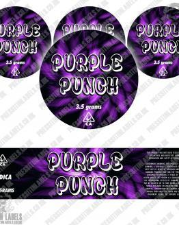 Purple Punch Jar Labels