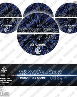 Skywalker OG Jar Labels