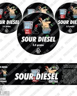 Sour Diesel Jar Labels