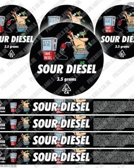 Sour Diesel Pressitin Labels