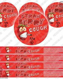 Strawberry Cough Pressitin Labels