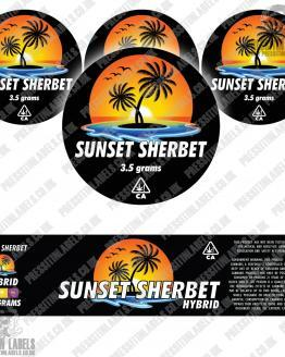 Sunset Sherbet Jar Labels