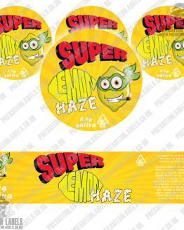 Super Lemon Haze Jar Labels