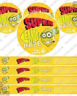 Super Lemon Haze Pressitin Labels