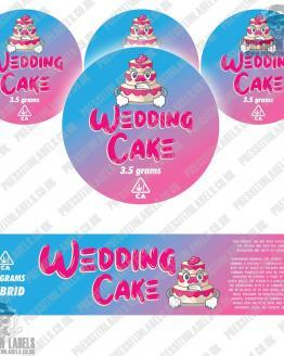 Wedding Cake Jar Labels
