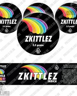 Zkittlez Jar Labels