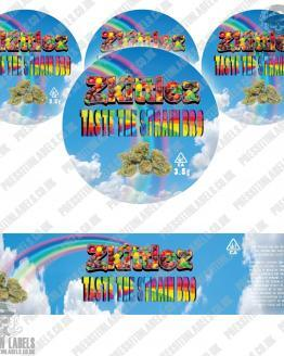 Zkittlez Jar Labels Type 2