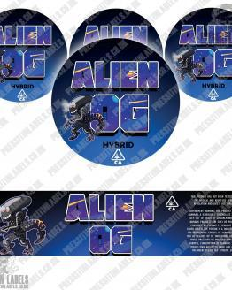 Alien OG Jar Labels