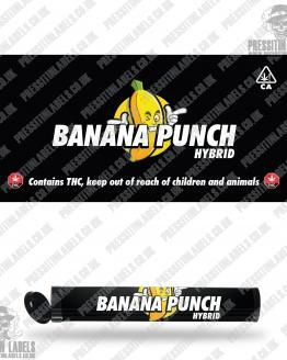 Banana Punch Pre Roll Labels