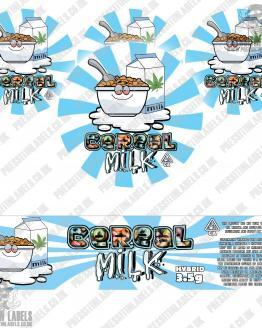 Cereal Milk Jar Labels