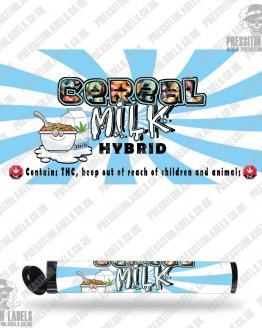 Cereal Milk Pre Roll Labels