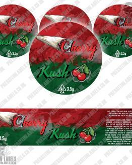 Cherry Kush Jar Labels