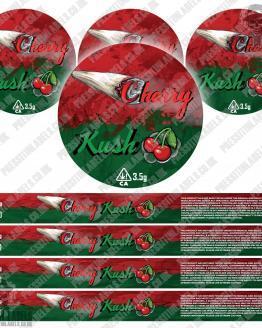 Cherry Kush Pressitin Labels