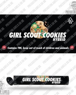 Girl Scout Cookies Pre Roll Labels