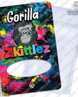 Gorilla Zkittlez Mylar Bag Labels
