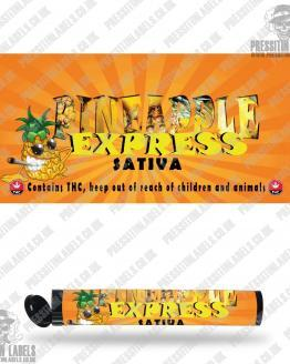 Pineapple Express Pre Roll Labels