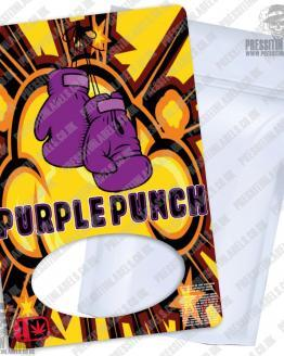 Purple Punch Type 2 Mylar Bag Labels