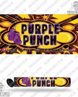 Purple Punch Type 2 Pre Roll Labels