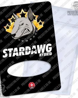 Stardawg Mylar Bag Labels