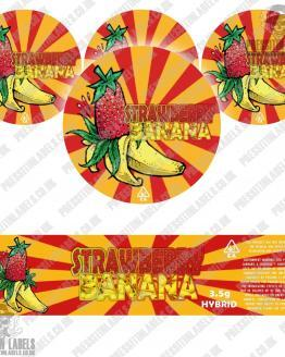 Strawberry Banana Jar Labels