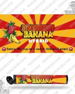 Strawberry Banana Pre Roll Labels
