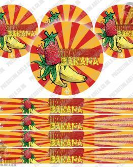 Strawberry Banana Pressitin Labels