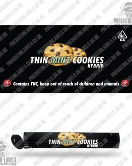 Thin Mint Cookies Pre Roll Labels