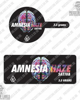 Amnesia Haze Tamper Proof Jar Labels