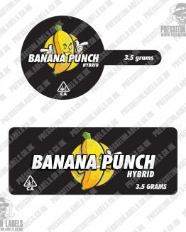 Banana Punch Tamper Proof Jar Labels