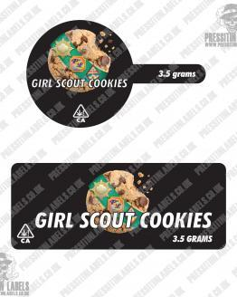 Girl Scout Cookies Tamper Proof Jar Labels