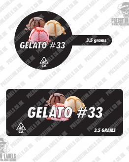 Gelato 33 Tamper Proof Jar Labels