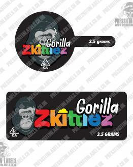 Gorilla Zkittlez Tamper Proof Jar Labels