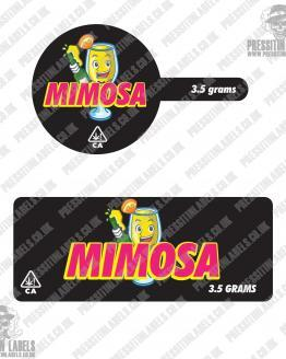 Mimosa Tamper Proof Jar Labels