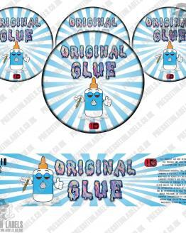 Original Glue Glass Jar Labels