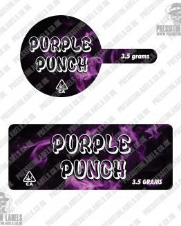 Purple Punch Tamper Proof Jar Labels
